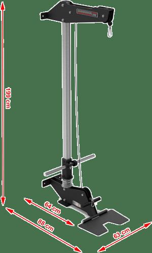 Wymiary gabarytowe wyciągu na wolne obciążenia Barbarian Line BB-9077