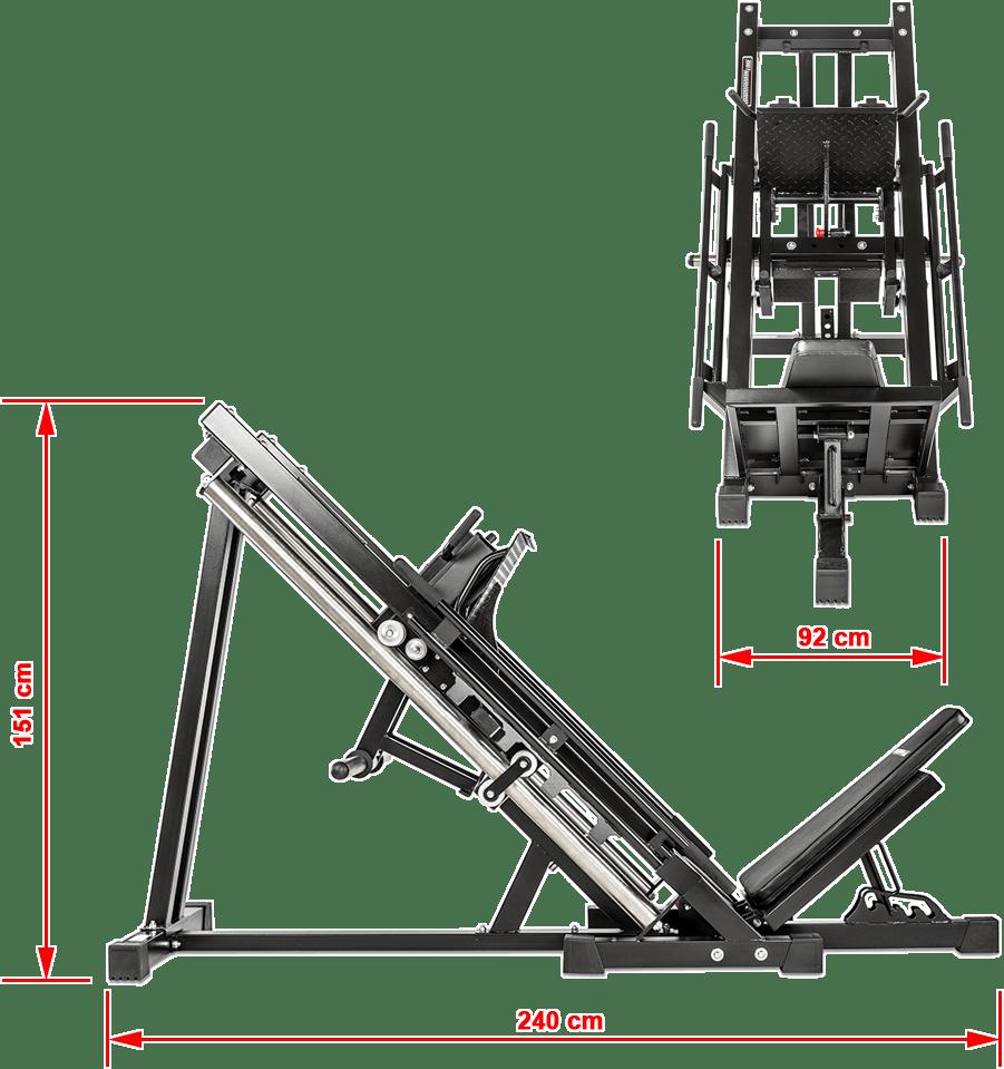Suwnica na nogi ATX-BPR-780 | wymiary gabarytowe