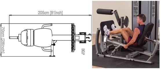 Stanowisko DCLP   Leg Press/Calf Extension