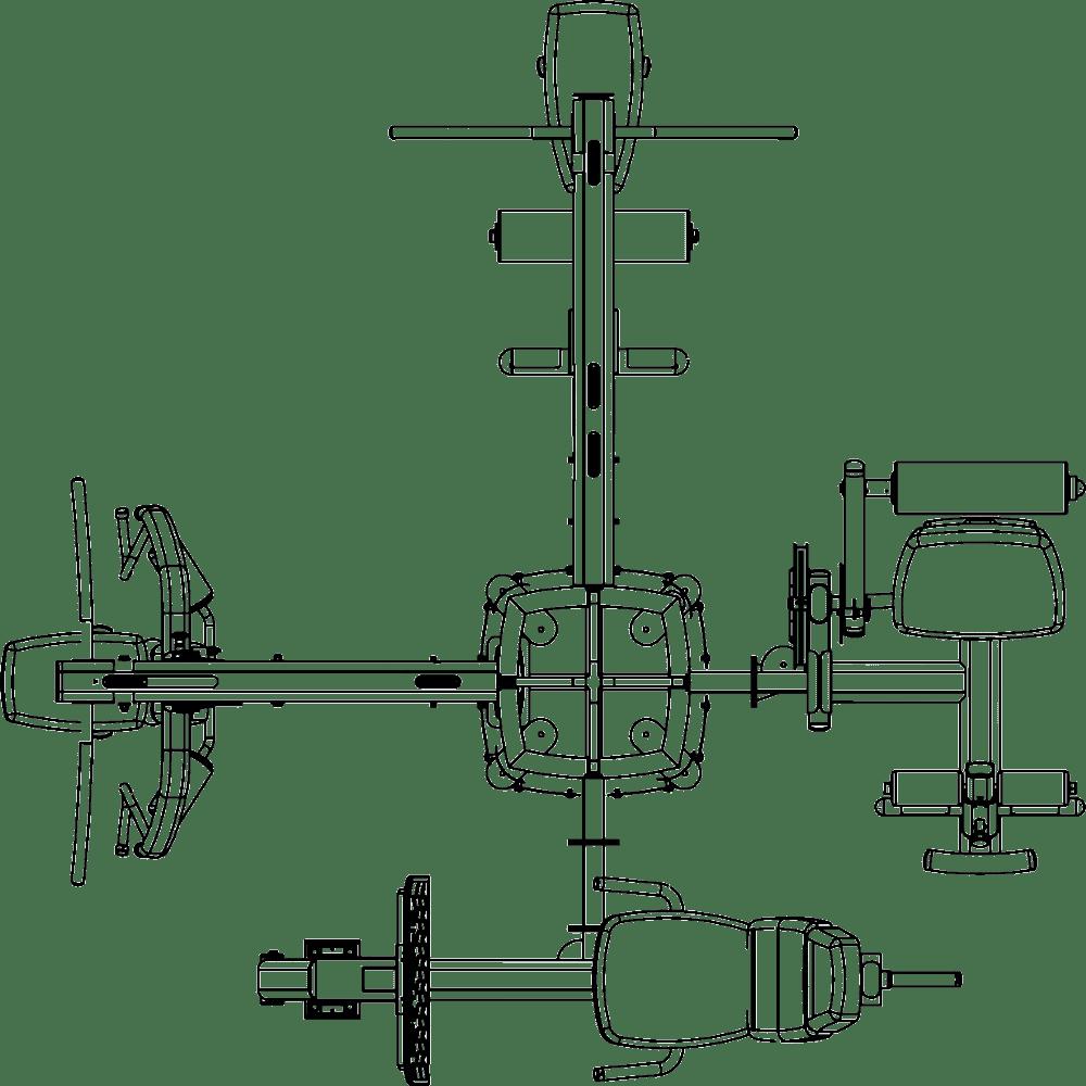 DGYMP-3 Body-Solid   schemat budowy