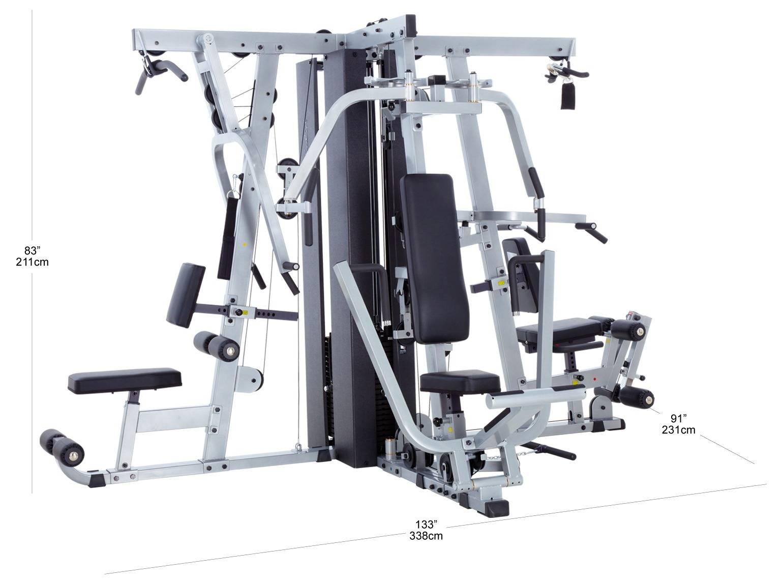 Wymiary gabarytowe atlasu treningowego Body-Solid EXM4000