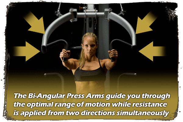 Bi-Angular Press Arms | G6B Body-Solid