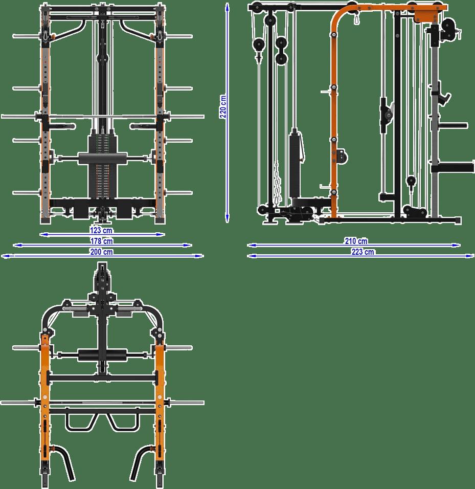 MegaTec MT-SCR-SW | wymiary gabarytowe