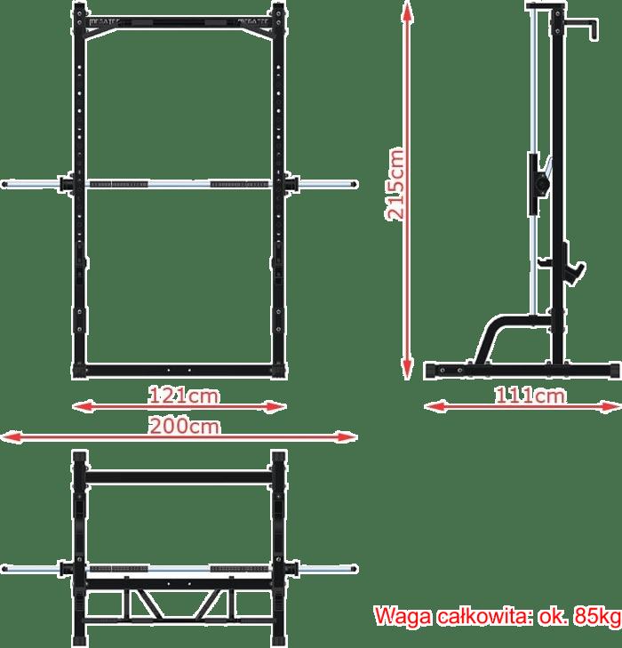 Suwnica Smith'a MegaTec MT-MP-10 wymiary gabarytowe