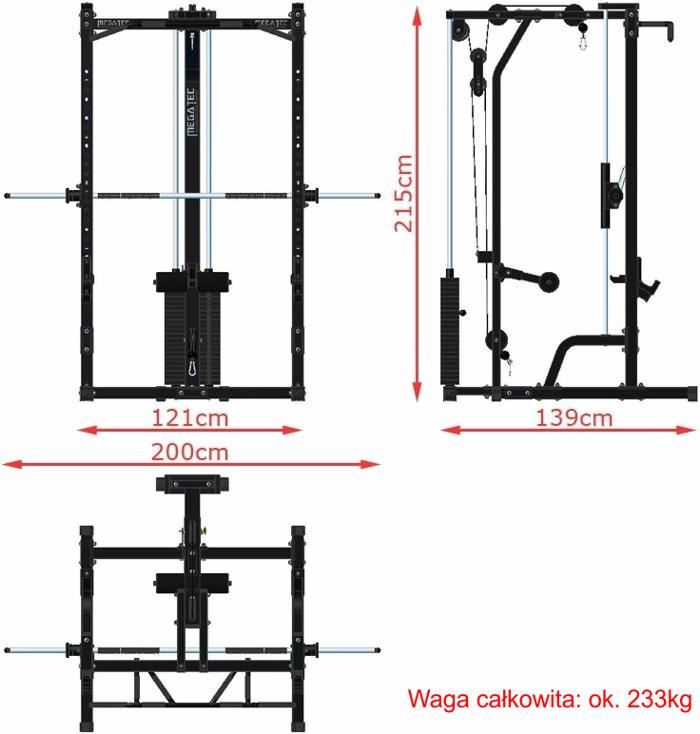 MT-MP-10+LMO-SW MegaTec wymiary gabarytowe