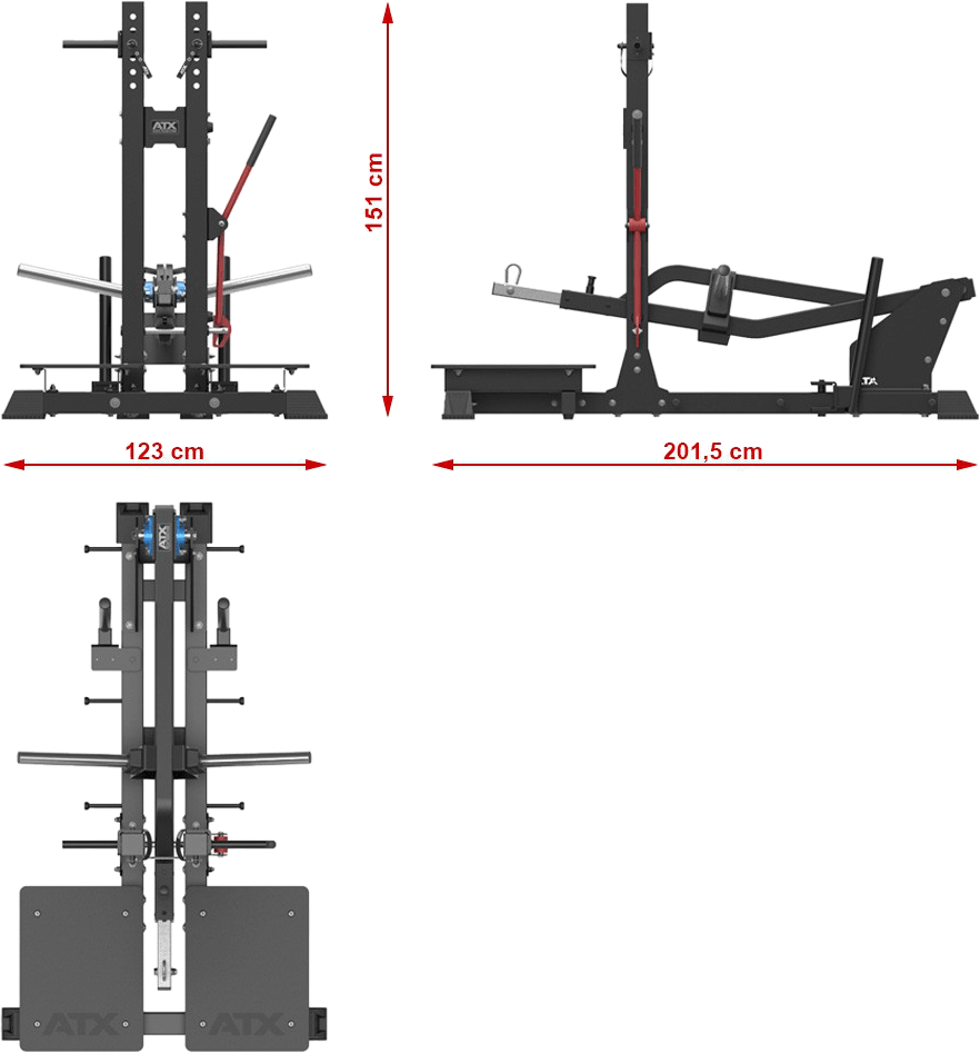 ATX-B-SQUAT Belt Squat Machine | wymiary