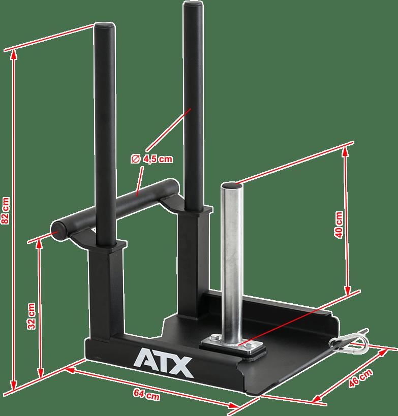 ATX-PO-SLED | wymiary gabarytowe | sanie crossfit