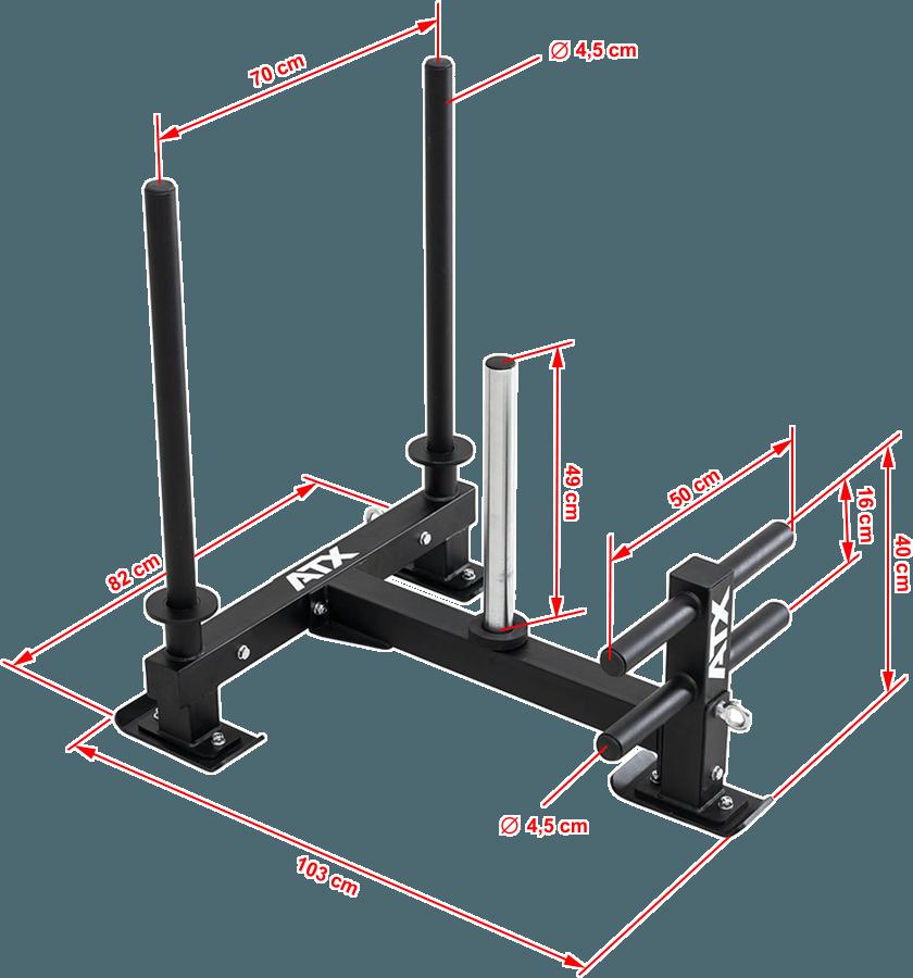 ATX-PR-SLED | wymiary gabarytowe | sanie crossfit