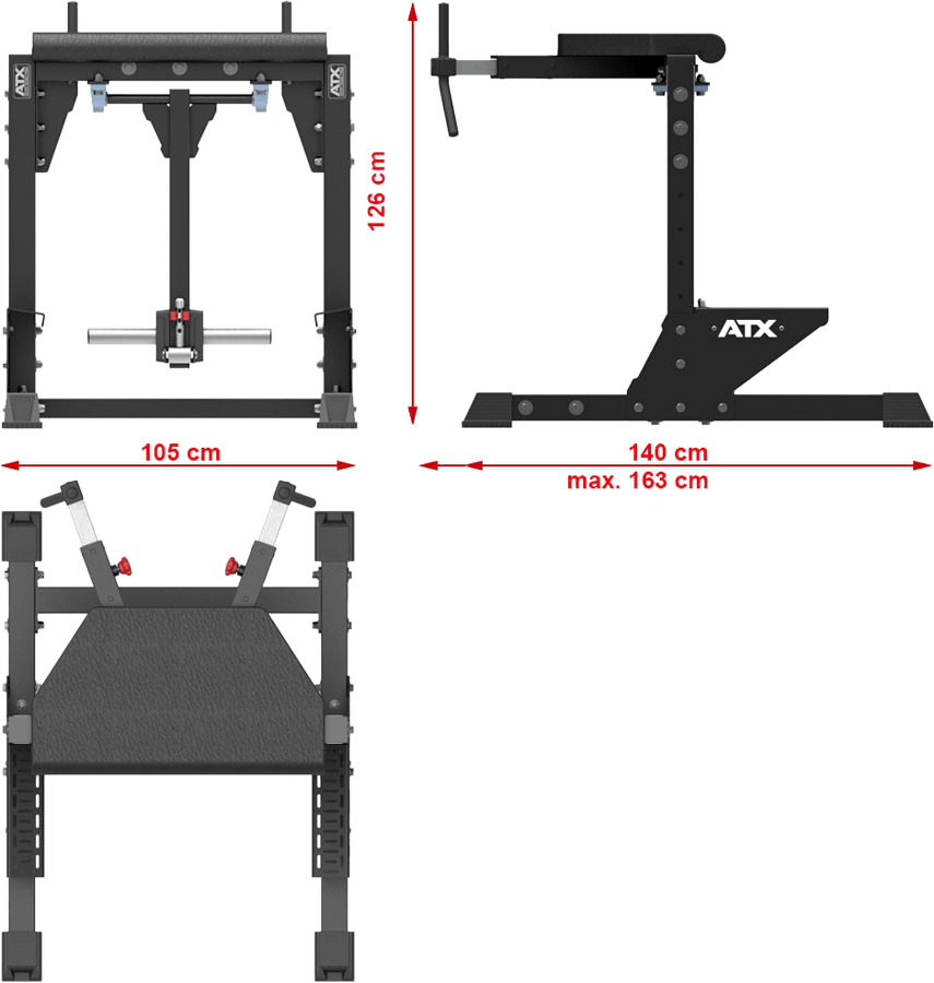 ATX® Reverse Hyper Extension - II | wymiary