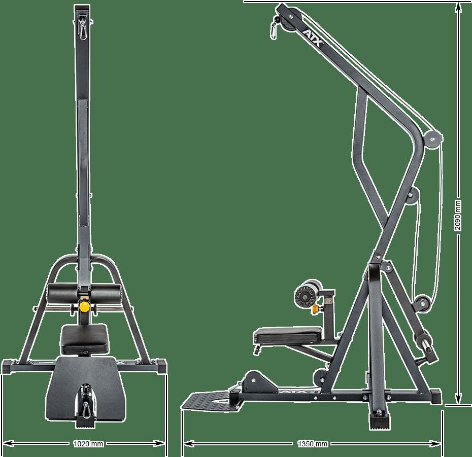 Wyciąg na wolne obciążenia ATX-LMZ-640   wymiary gabarytowe