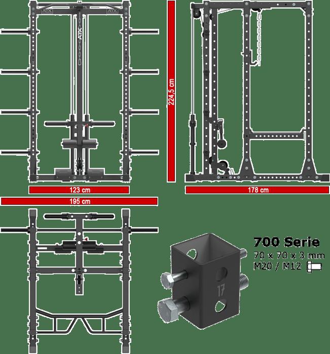ATX-PRX-750-EXT-SET-250 | stacja treningowa z wyciągiem linowym
