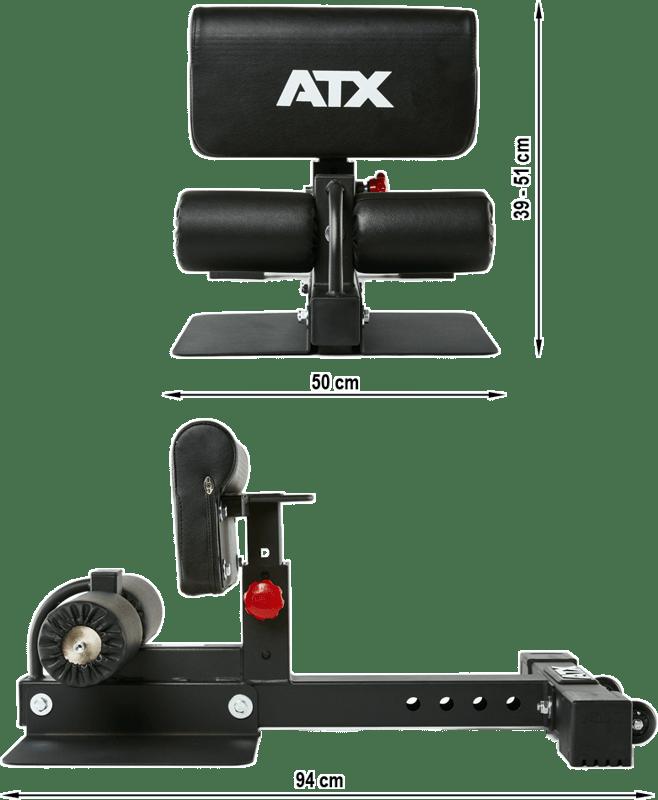 Stanowisko Sissy Squat Master Compact ATX-SYS-750 | wymiary