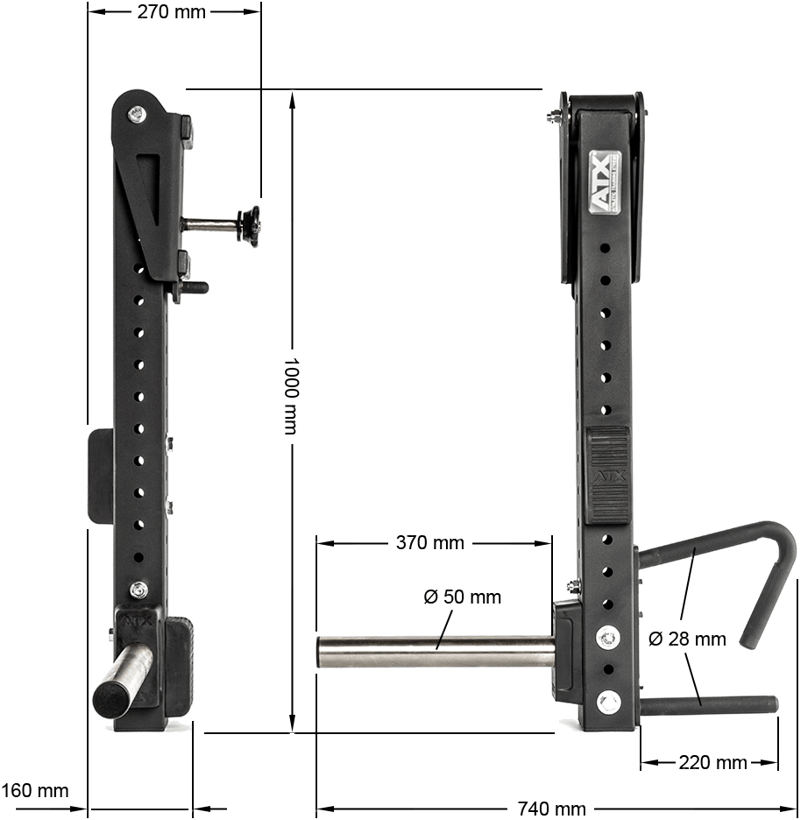 Jammer Arms - Lever Arms ATX-J-ARM-T1 | wymiary