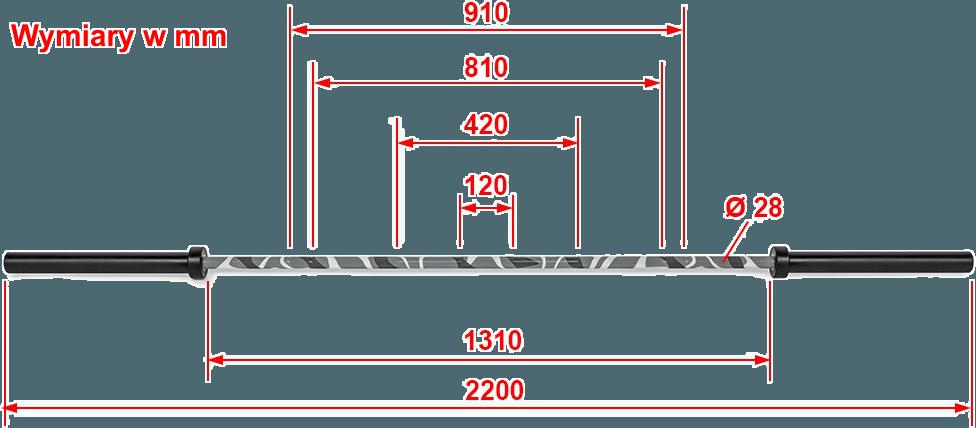 ATX LH-50-220-CAMO | wymiary gabarytowe