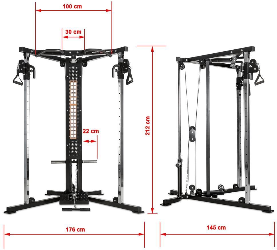 HD-FCT-900 Heavy Duty | brama narożna | wymiary gabarytowe