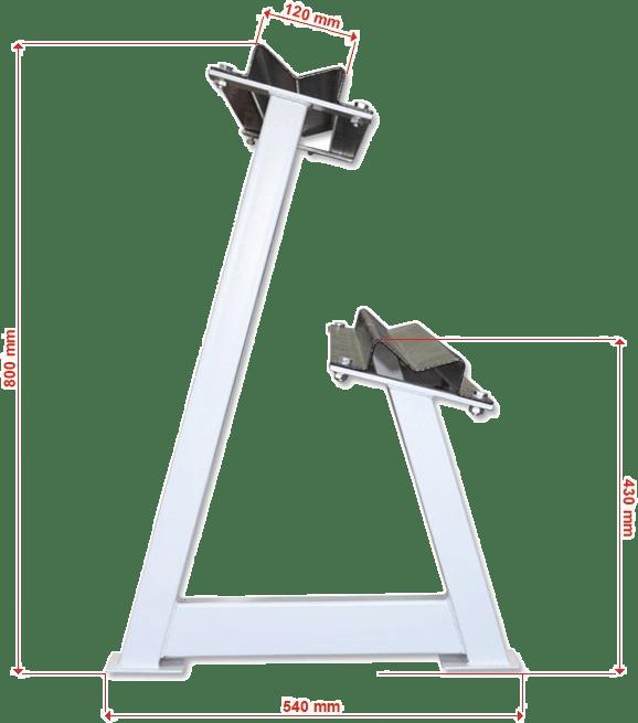 WYmiary gabarytowe stojaka na hantle IFS R-3008-W-HS