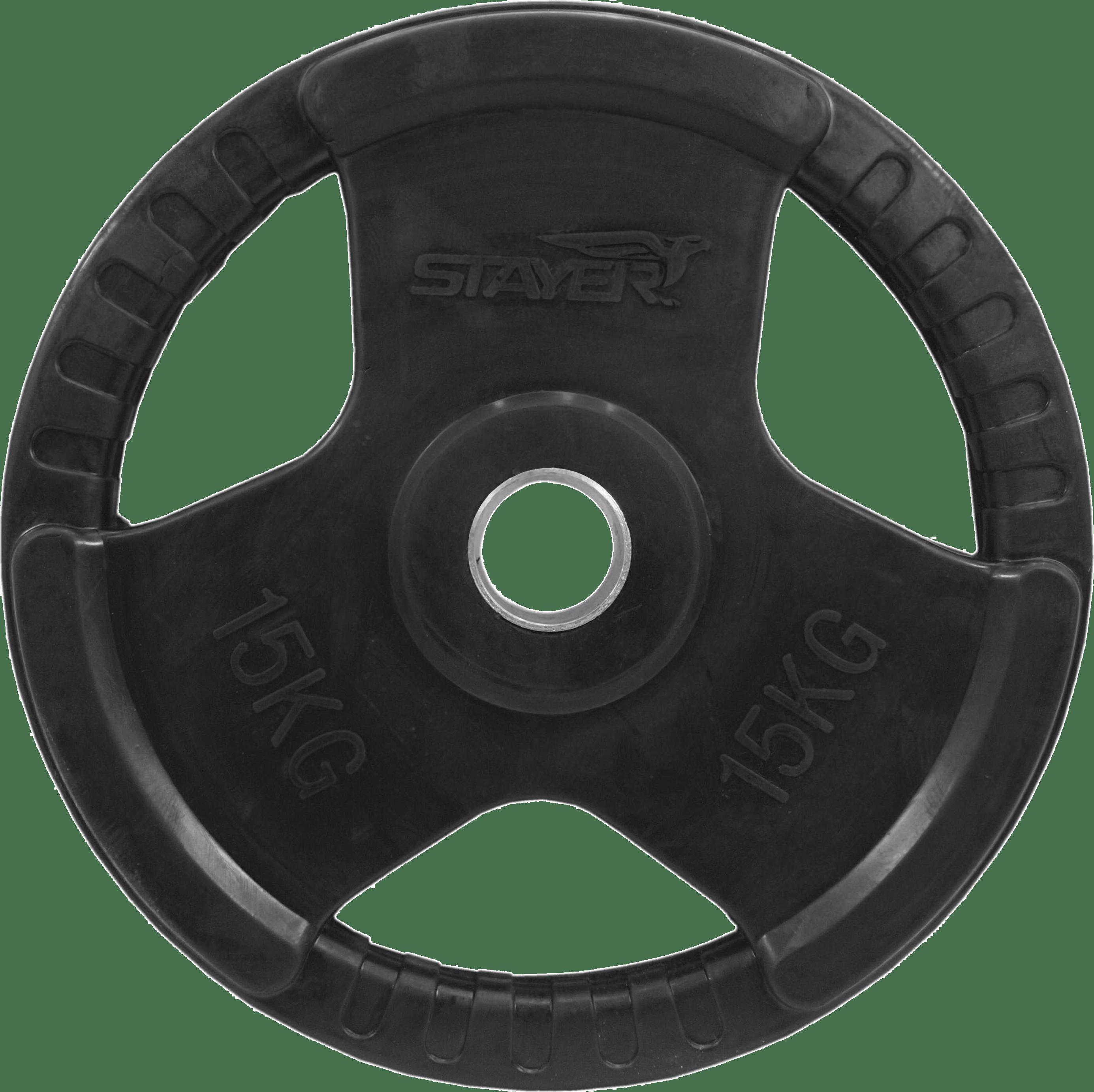 Obciążenie olimpijskie gumowane Stayer Sport NRB-5 | 15kg